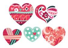 Ornamentos del corazón Fotografía de archivo libre de regalías