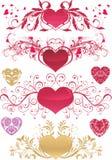 Ornamentos del día de tarjeta del día de San Valentín Imagenes de archivo