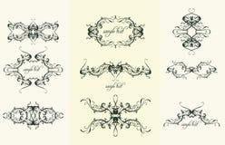 ornamentos del diseño de la vendimia Fotografía de archivo libre de regalías