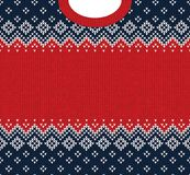 Ornamentos del escandinavo del marco de la tarjeta de felicitación de la Feliz Año Nuevo de la Feliz Navidad Fotos de archivo libres de regalías
