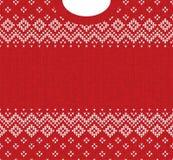 Ornamentos del escandinavo del marco de la tarjeta de felicitación de la Feliz Año Nuevo de la Feliz Navidad Fotografía de archivo libre de regalías