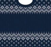 Ornamentos del escandinavo del marco de la tarjeta de felicitación de la Feliz Año Nuevo de la Feliz Navidad Imagen de archivo