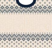 Ornamentos del escandinavo del marco de la tarjeta de felicitación de la Feliz Año Nuevo de la Feliz Navidad Imagen de archivo libre de regalías