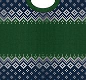 Ornamentos del escandinavo del marco de la tarjeta de felicitación de la Feliz Año Nuevo de la Feliz Navidad Imagenes de archivo