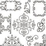 Ornamentos del hierro de Wrough Imagenes de archivo