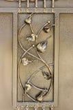 Ornamentos del hierro labrado para las puertas y la cerca Fotografía de archivo libre de regalías