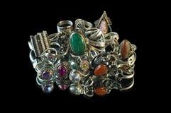Ornamentos del joyero Foto de archivo libre de regalías