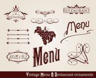 Ornamentos del menú de la vendimia Fotografía de archivo