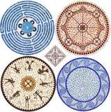 Ornamentos del mosaico Foto de archivo libre de regalías