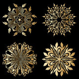 Ornamentos del oro del vector Fotografía de archivo