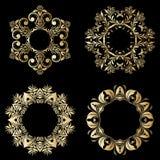 Ornamentos del oro del vector Imagen de archivo