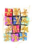 Ornamentos del regalo de Navidad Imagen de archivo libre de regalías