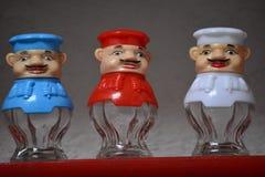 Ornamentos del ` s del cocinero hechos del vidrio imagenes de archivo