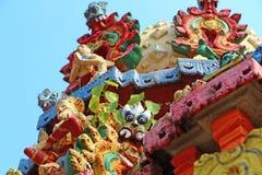 Ornamentos del tejado de un templo hindú Configuración de la India Swami Temple de Janardana Imagenes de archivo