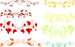 Ornamentos, elementos del diseño Fotos de archivo