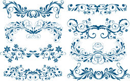 Ornamentos, elementos del diseño ilustración del vector