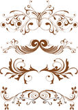 Ornamentos, elementos del diseño Imágenes de archivo libres de regalías