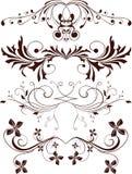 Ornamentos, elementos del diseño Imagen de archivo libre de regalías