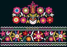 Ornamentos eslovacos populares Fotografía de archivo libre de regalías