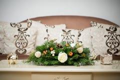 Ornamentos especiales por días de la Navidad imagen de archivo
