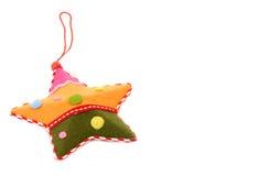 Ornamentos, estrella del árbol de navidad Fotos de archivo