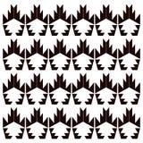 Ornamentos exóticos blancos, moda negra del diseño Foto de archivo