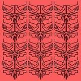 Ornamentos exóticos del diseño ROJOS/NEGRO Imágenes de archivo libres de regalías