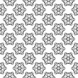 Ornamentos florales blancos y negros Modelo inconsútil Imagen de archivo libre de regalías