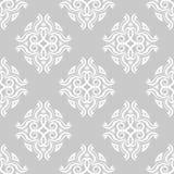 Ornamentos florales de la vendimia Modelos inconsútiles grises para la tela y el papel pintado Imagen de archivo