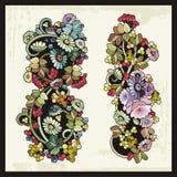 Ornamentos florales en el estilo tradicional ruso Fotos de archivo libres de regalías