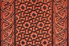 Ornamentos florales en Fatekhpur Sikri Imagenes de archivo