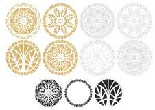 Ornamentos geométricos Fotos de archivo