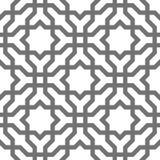 Ornamentos geométricos del vector islámico, arte árabe tradicional Modelo inconsútil oriental Teja turca, árabe, marroquí Imagen de archivo