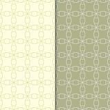 Ornamentos geométricos del verde verde oliva Conjunto de modelos inconsútiles Imagen de archivo libre de regalías