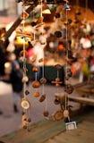 Ornamentos hechos a mano de la Navidad imagen de archivo