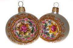 Ornamentos hechos a mano de la Navidad Imagen de archivo libre de regalías
