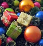 Ornamentos hermosos de la Navidad Fotos de archivo