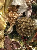 Ornamentos hermosos de la Navidad Fotografía de archivo libre de regalías