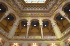 Ornamentos interiores del ayuntamiento de Sarajevo Fotografía de archivo libre de regalías