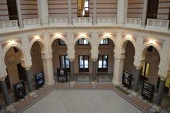 Ornamentos interiores del ayuntamiento de Sarajevo Imágenes de archivo libres de regalías