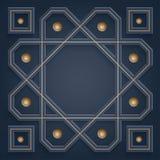 ornamentos islámicos 3D Modelo geométrico árabe con el espacio vacío en el centro para su escritura stock de ilustración