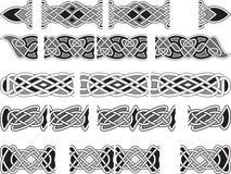 Ornamentos medievales célticos Imagen de archivo libre de regalías