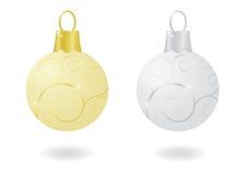 Ornamentos metálicos de la Navidad Imagen de archivo libre de regalías