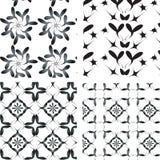 Ornamentos negro-blancos determinados. Imagenes de archivo