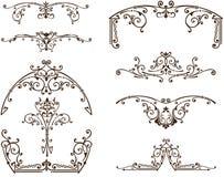 Ornamentos orientales del vintage del vector de las florituras stock de ilustración