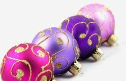 Ornamentos púrpuras Foto de archivo libre de regalías