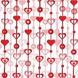 Ornamentos para el día de tarjeta del día de San Valentín Imagenes de archivo