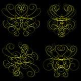 Ornamentos pasados de moda Ilustración del Vector