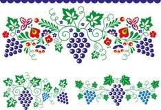 Ornamentos populares stock de ilustración
