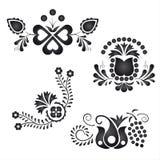 Ornamentos populares tradicionales Imagen de archivo libre de regalías